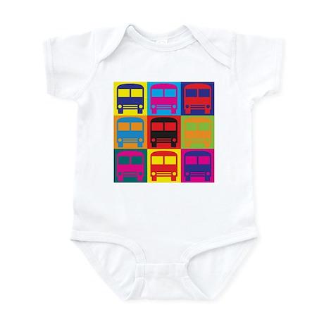Driving a Bus Pop Art Infant Bodysuit