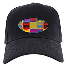 Driving a Bus Pop Art Baseball Hat