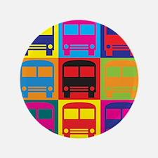 """Driving a Bus Pop Art 3.5"""" Button"""