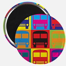 Driving a Bus Pop Art Magnet