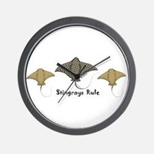 Stingrays Rule Wall Clock