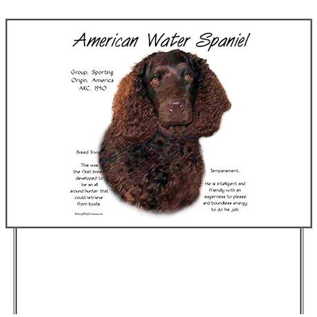 American Water Spaniel Yard Sign