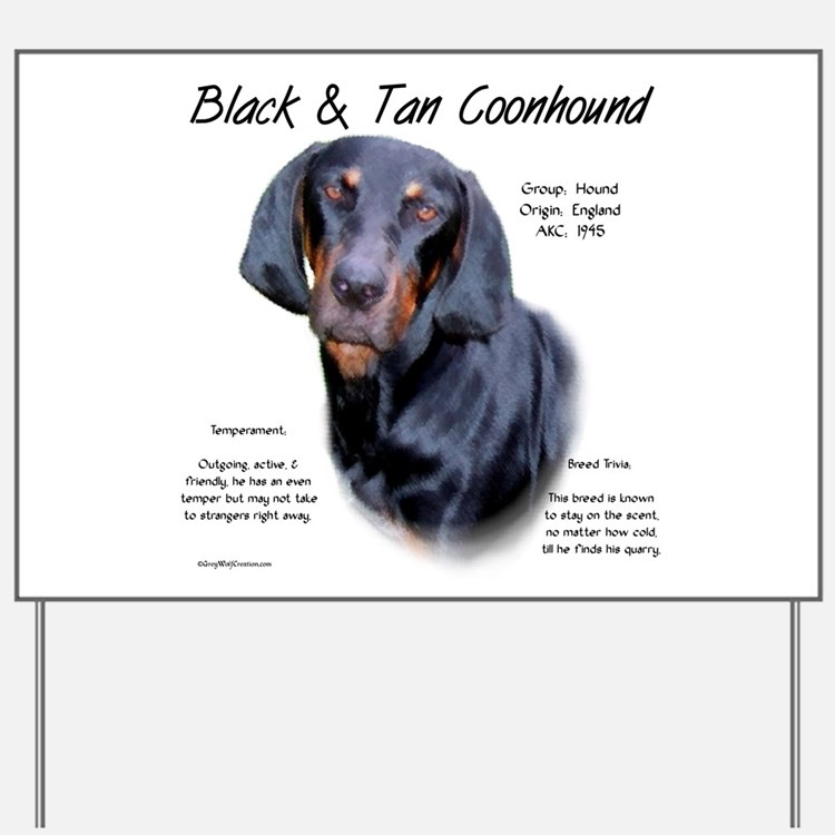 Black & Tan Yard Sign