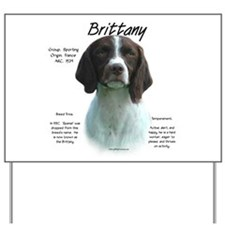 Brittany (Liver) Yard Sign