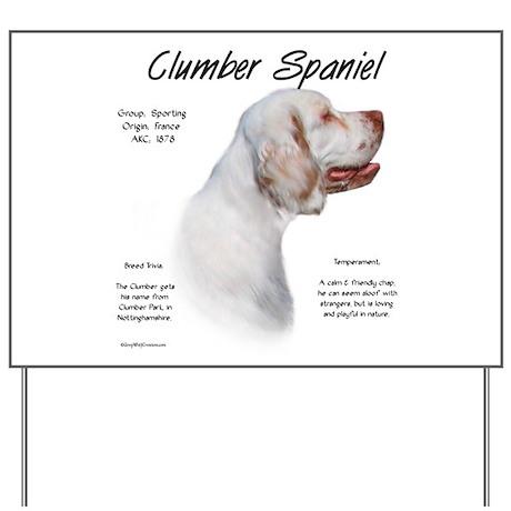 Clumber Spaniel Yard Sign