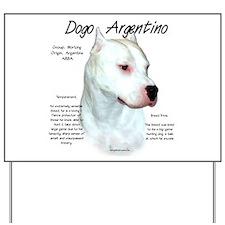 Dogo Argentino Yard Sign
