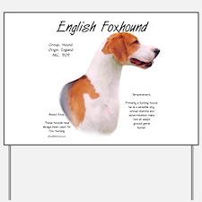 English Foxhound Yard Sign
