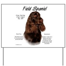 Field Spaniel Yard Sign