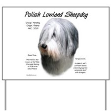 Polish Lowland Sheepdog Yard Sign