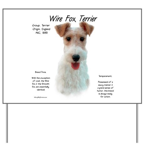 Wire Fox Terrier Yard Sign