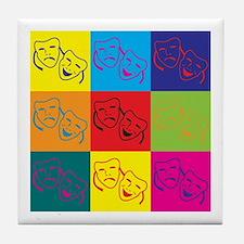 Drama Pop Art Tile Coaster