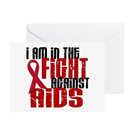 In The Fight Against AIDS 1 Greeting Cards (Pk of