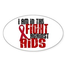 In The Fight Against AIDS 1 Oval Decal