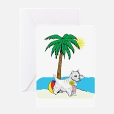 Beach Westie Greeting Card
