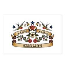 Live Love English Postcards (Package of 8)