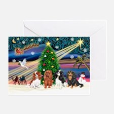XMagic-Four Cavaliers Greeting Card