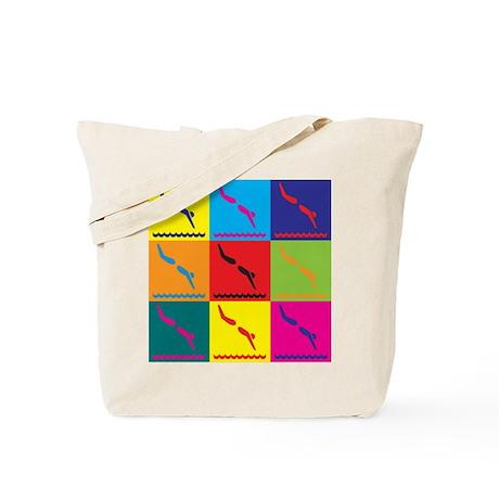 Diving Pop Art Tote Bag