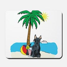 Beach Scottish Terrier Mousepad