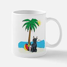 Beach Scottish Terrier Mug