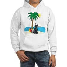 Beach Scottish Terrier Hoodie