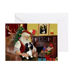 Santas Cavalier Greeting Card