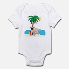 Beach Pug Infant Bodysuit