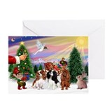 Cavalier king charles spaniel christmas Greeting Cards