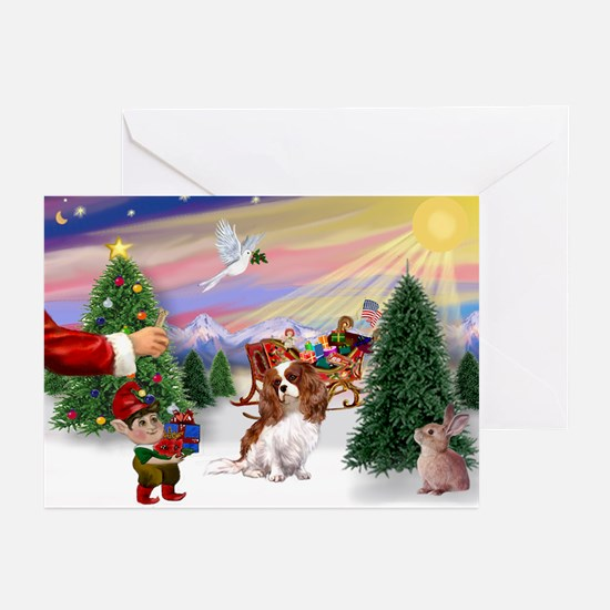 Santas Treat-Cavalier Greeting Cards (Pk of 10)