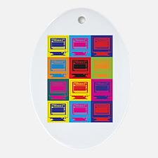Desktop Publishing Pop Art Oval Ornament