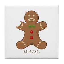 """Bite Me"" Tile Coaster"