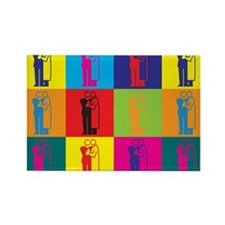 Dermatology Pop Art Rectangle Magnet