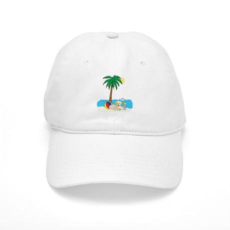 Beach Yellow Lab Cap