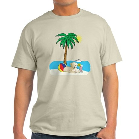 Beach Yellow Lab Light T-Shirt