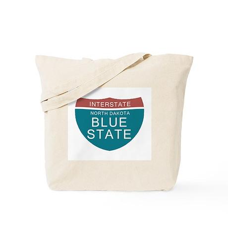 North Dakota Blue State T-shi Tote Bag