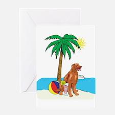 Beach Irish Setter Greeting Card