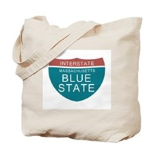Massachusetts Blue State Tees Tote Bag