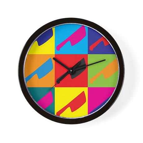 Cutting Meat Pop Art Wall Clock