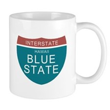 Hawaii Blue State Obama T-shi Mug
