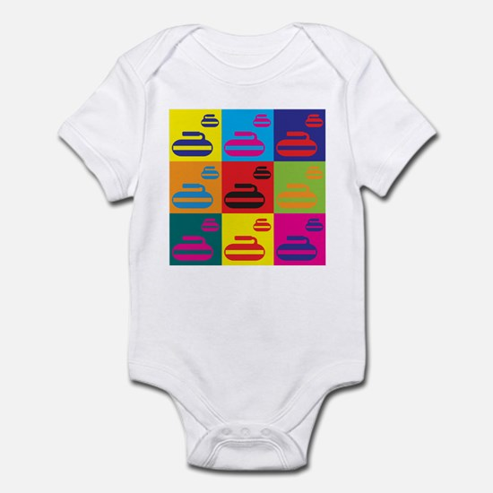 Curling Pop Art Infant Bodysuit