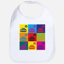 Curling Pop Art Bib