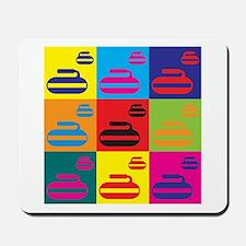 Curling Pop Art Mousepad