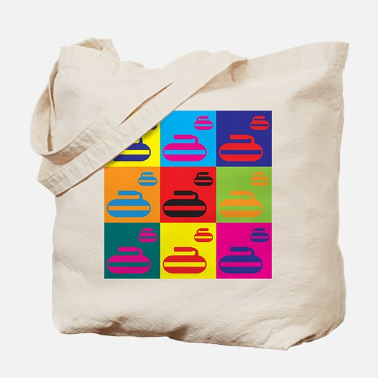 Curling Pop Art Tote Bag