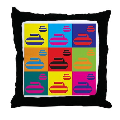 Curling Pop Art Throw Pillow