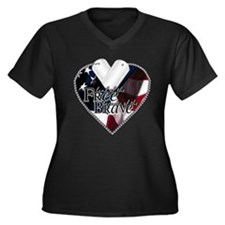 Because of the Brave Women's Plus Size V-Neck Dark