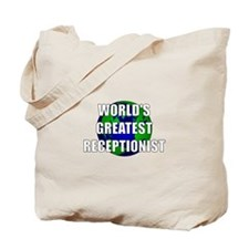 World's Greatest Receptionist Tote Bag