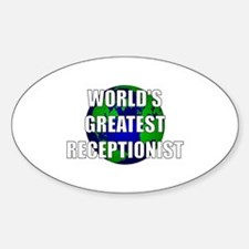 World's Greatest Receptionist Oval Decal