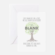 Family Tree Roots Personlizable Greeting Card