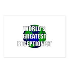 World's Greatest Receptionist Postcards (Package o