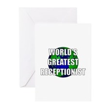 World's Greatest Receptionist Greeting Cards (Pk o