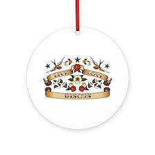 Live Love Discus Ornament (Round)
